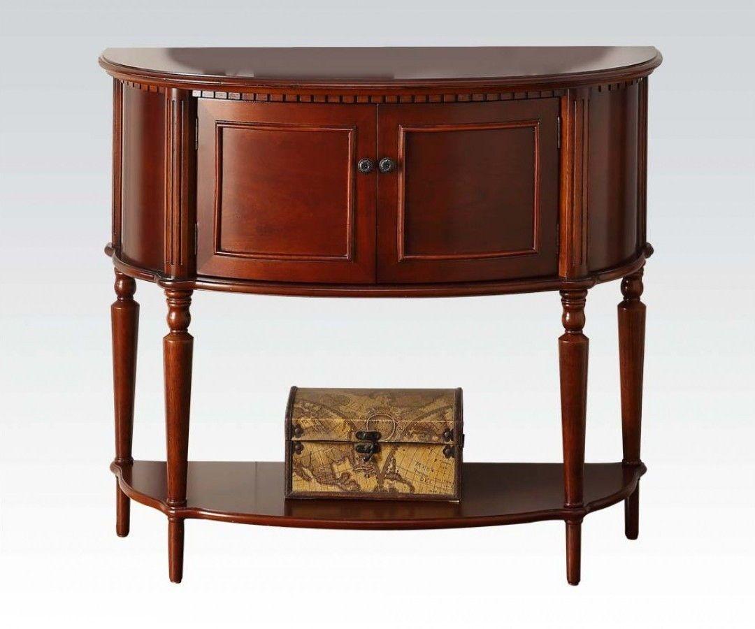 Bon Aplinas Cherry Wood Console Table W/Bottom Shelf