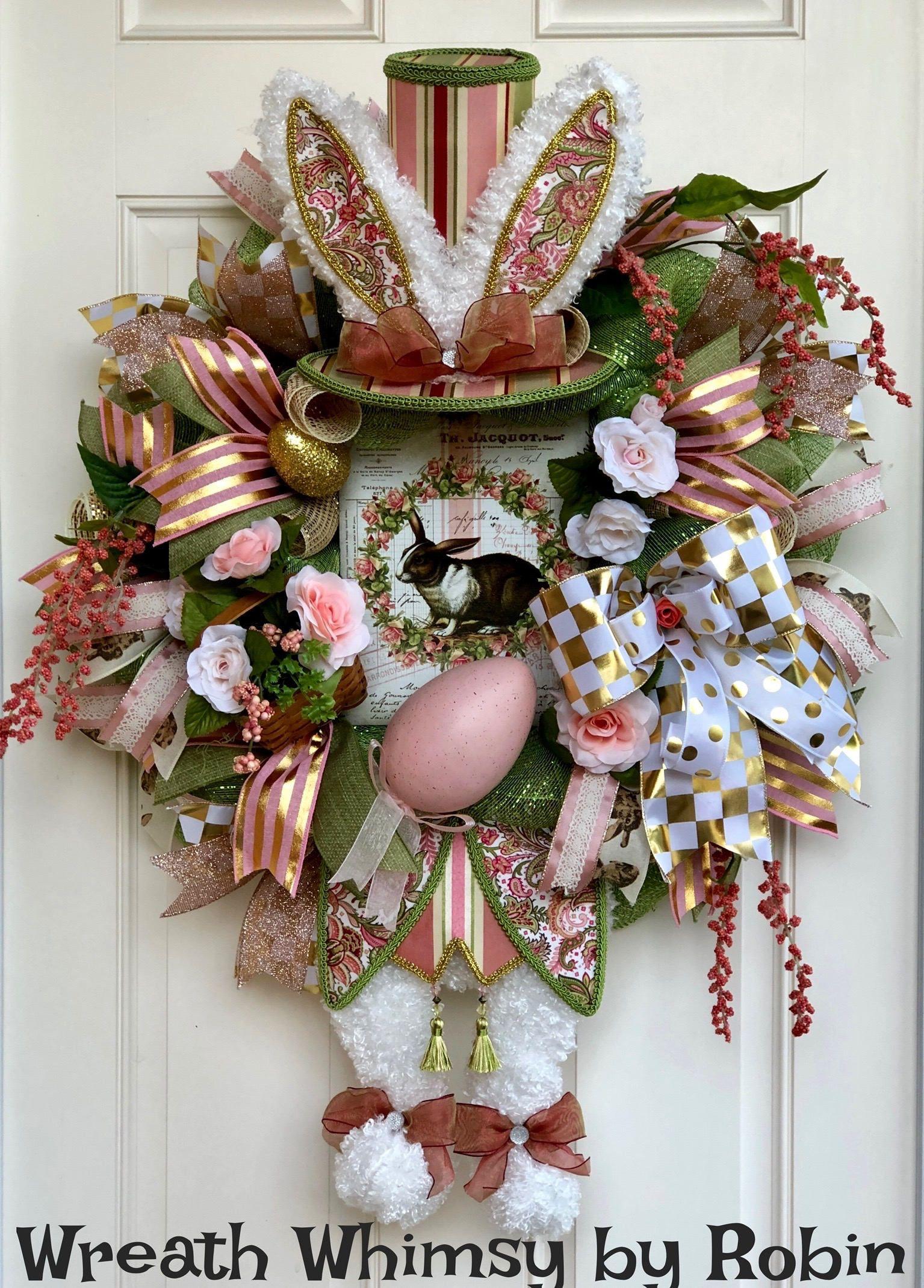 Easter WreathEaster WreathsEaster Decor Easter Party DecorSpring WreathSpring WreathsEaster Door DecorEaster Wall DecorEaster Rabbit