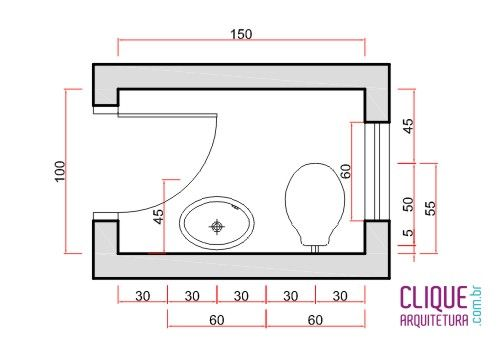 Medidas Banheiro Planta Baixa : Planta baixa medidas plantas baixas