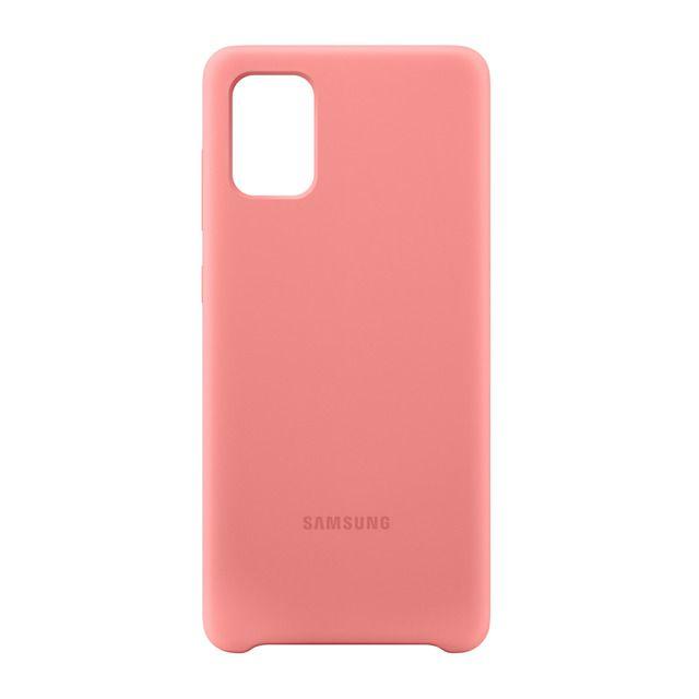 Funda rosa de silicona Samsung para Samsung Galaxy A71