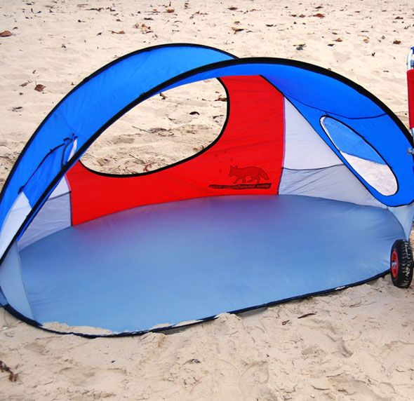 Colourful pop-up shelter and Beach Tent for beaches and picnics. Large family size & Colourful pop-up shelter and Beach Tent for beaches and picnics ...