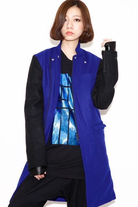 PARADOX - RIDERS CHESTER COAT (BLUE-BLACK)