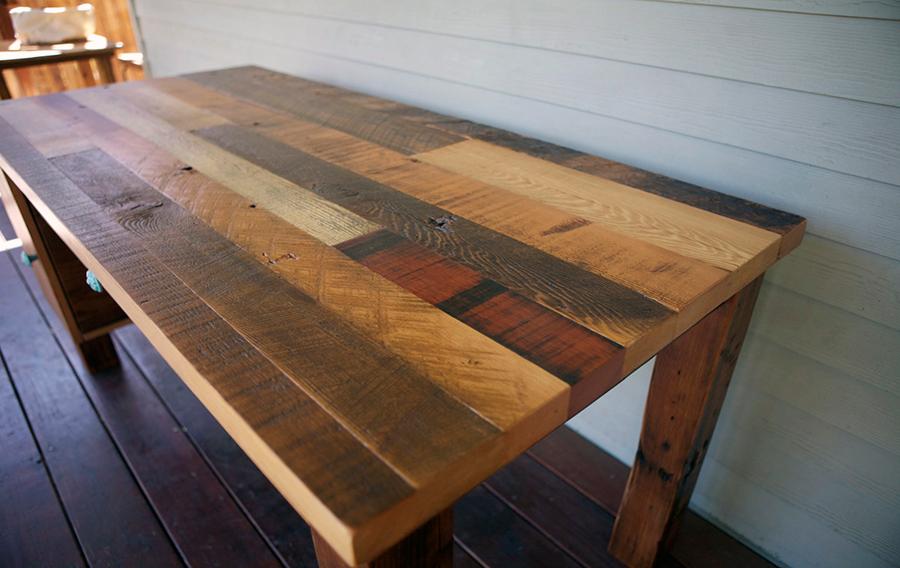 reclaimed wood desk - Wood Desk Designs