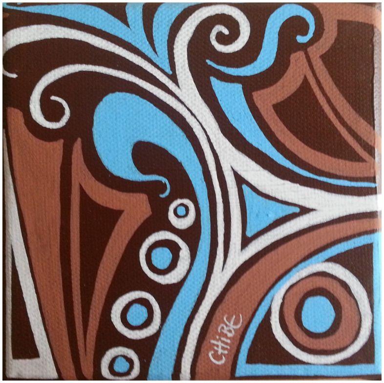 tableau moderne deco petit format turquoise blanc marron peintures par art monize31 toiles d. Black Bedroom Furniture Sets. Home Design Ideas