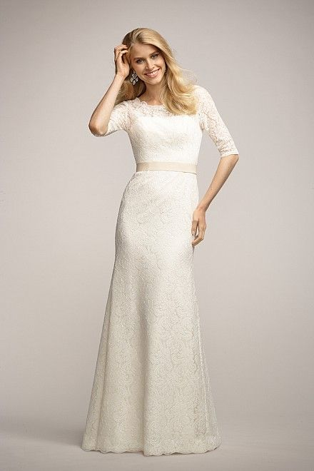 Watters Wedding Dress With Lace 3 4 Length Sleeves Coriander From The Encore