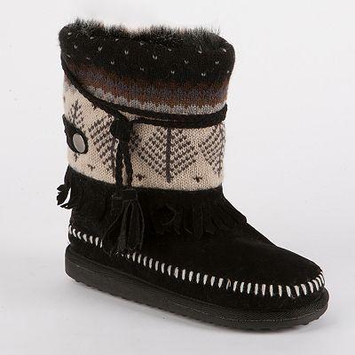 MUK LUKS Ricki Ankle Boots - Juniors