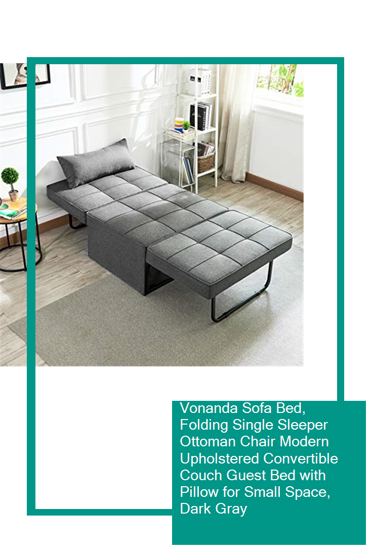 Vonanda Sofa Bed Folding Single Sleeper Ottoman Chair Modern