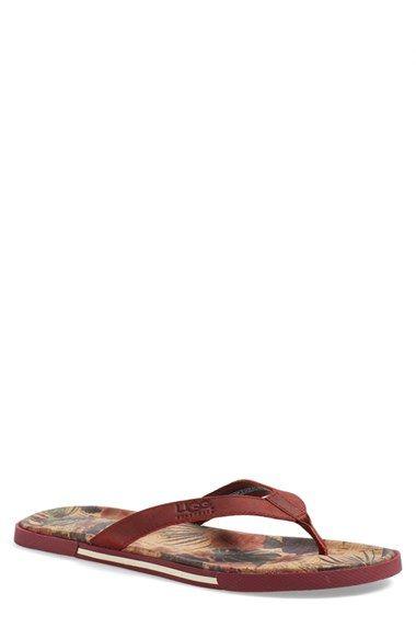 d93be9eea45 UGG® 'Bennison II' Leather Flip Flop (Men) | schuhe | Schuhe