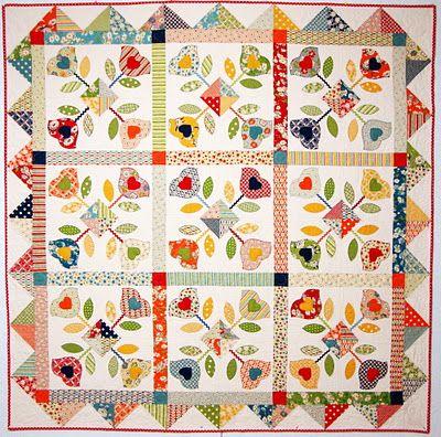 Tulip Festival ~ This quilt is in the 2012 APQ Calendar!