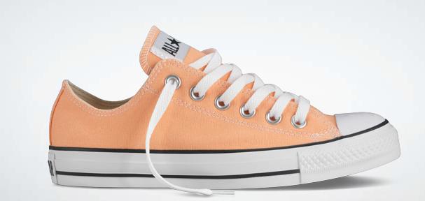 b2389db02620 Converse Fresh Colors line. Cactus with Burnt Orange Laces
