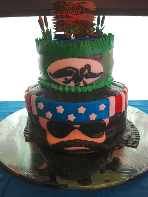 Admirable Duck Dynasty Cake Duck Dynasty Cakes Duck Dynasty Party Duck Personalised Birthday Cards Veneteletsinfo