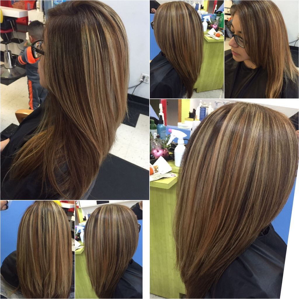 Multi Blonde Highlights With A Natural Brown Base Hair I Like