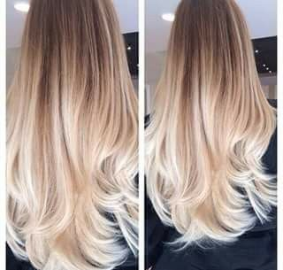 Vanilla blonde ombre hair balayage ♥ Pinterest  Elisa Gyn