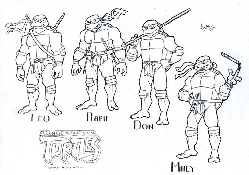 tmnt coloring pages on pinterest - photo#21
