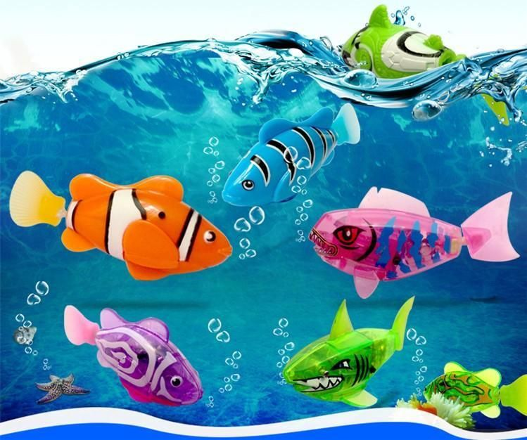 2019 New Funny Swimming Electronic Fish Activated Battery Powered Fishes Toy Fish Robotic Pet For Fishing Tank Decorating Toys Electronic Toys