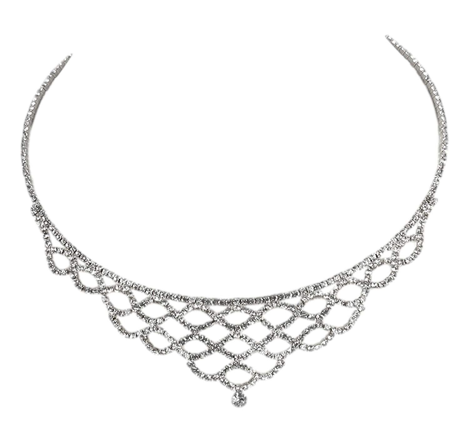 2a672fc8f3a585 JB Vintage Dazzling Layered Coil Wire Silver Toned Choker -- Thank you for  visiting our