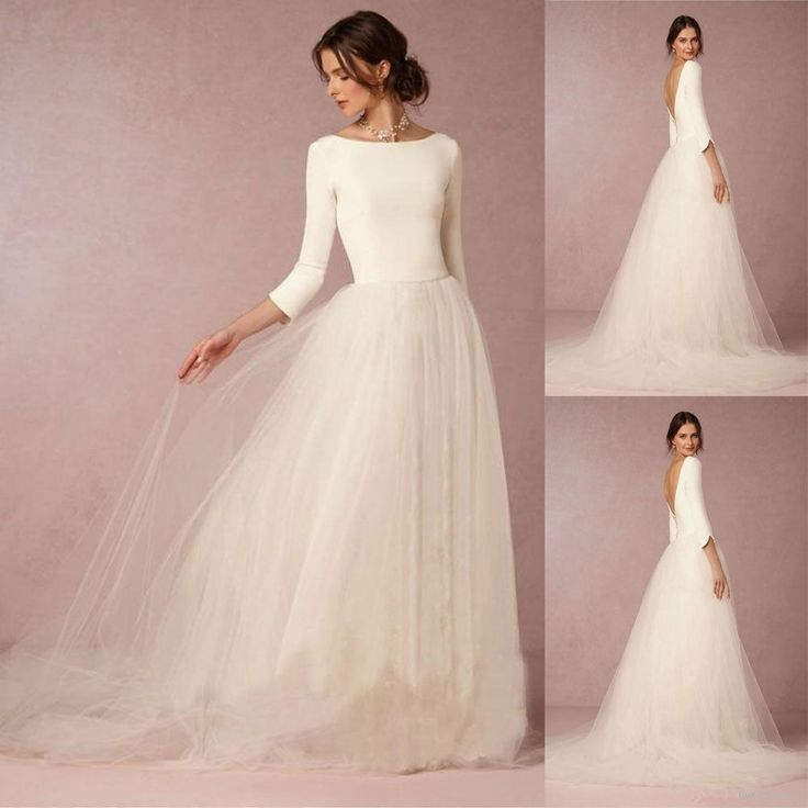 View our fantastic choice of bridal gown, and more, LUV Bridal will make ... Halani V-Neckline Gown with Tulle and Lace