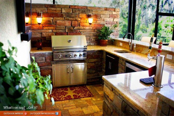 This Is A Back Porch Outdoor Kitchen Outdoor Kitchen Plans Kitchen