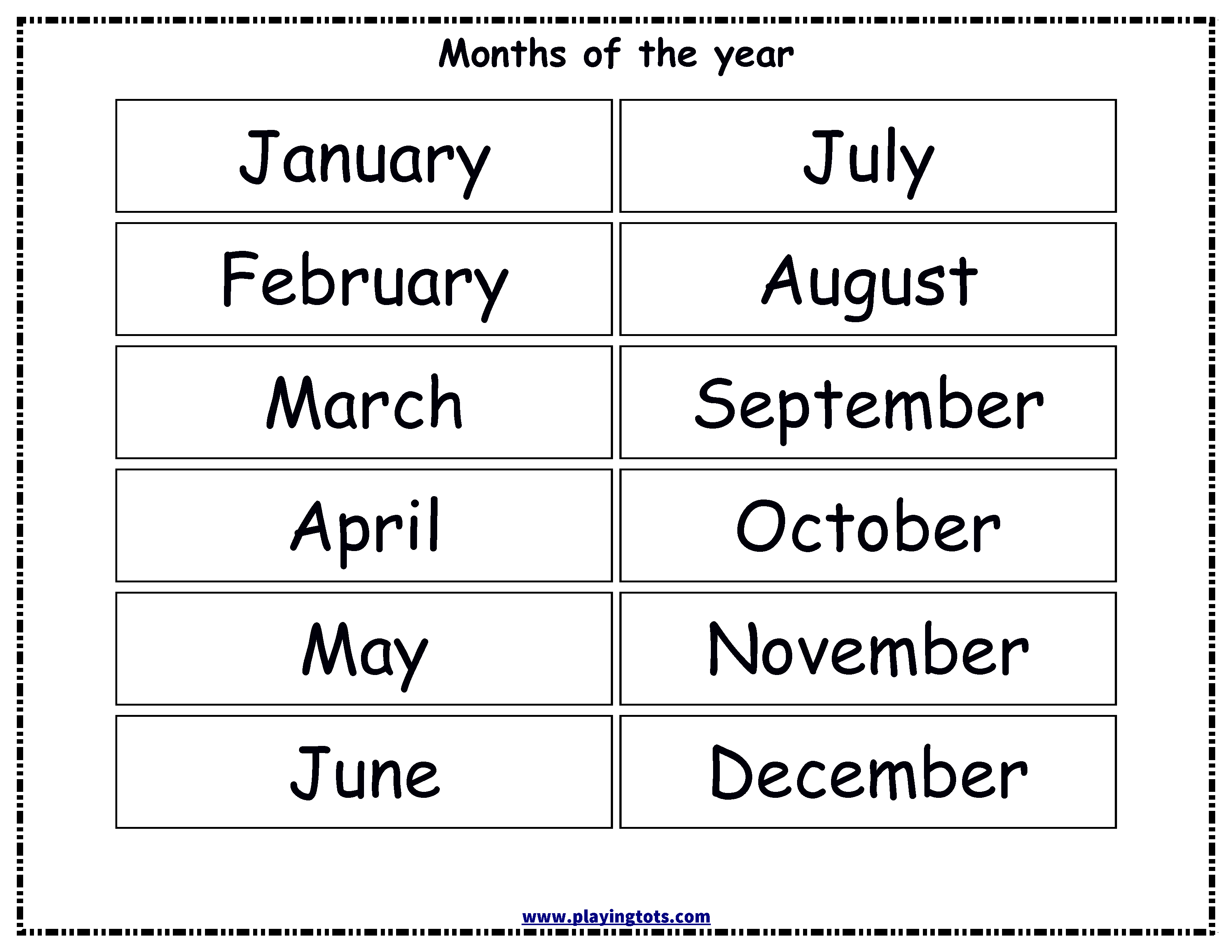 photo about Free Printable Months of the Year identified as Totally free printable Weeks of the calendar year chart alivia studying