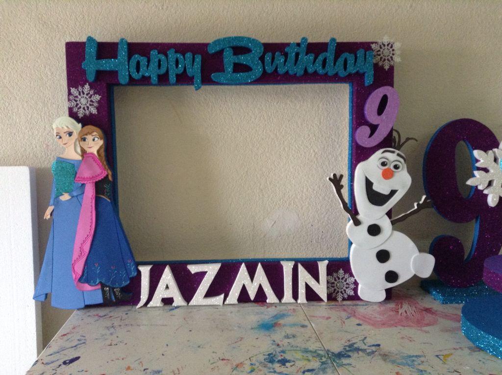 Frozen marcos personalizados frozen photo booth - Cuadros fotos personalizados ...