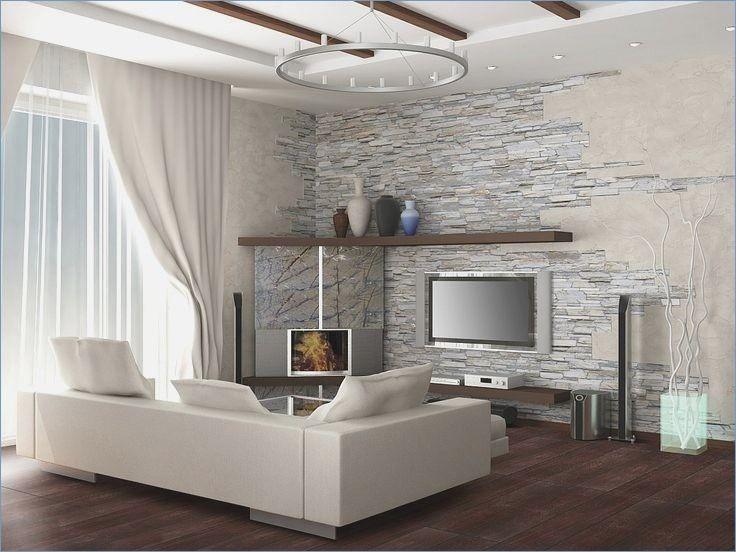 Steinwand Wohnzimmer   Steinwand wohnzimmer, Innentüren weiß, Weiße einrichtungen