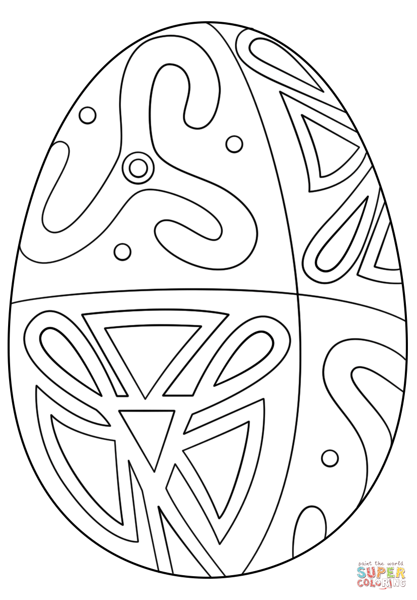 Easter Egg With Folk Pattern Super Coloring Easter Egg Coloring Pages Free Printable Coloring Pages Coloring Eggs [ 1186 x 824 Pixel ]