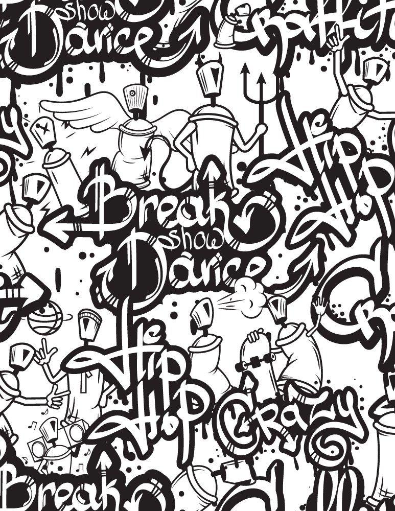 Mosaique Hip Hop Graffiti A Imprimer Et Dessiner Color Me Badd