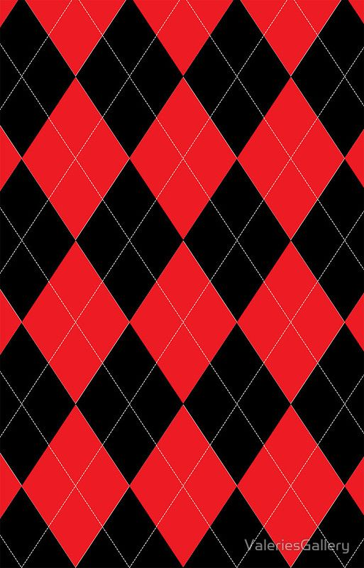 Red And Black Argyle Pattern Iphone 12 Soft By Valeriesgallery In 2021 Red And Black Wallpaper Red And Black Background Black Phone Wallpaper