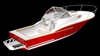 Carolina Express 25 With Cabin Cx25 Study Plans Express Boats Cabin Cruiser Study Plan