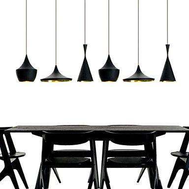 Max 60w peintures m tal lampe suspendue chambre coucher salle manger de 2016 - Luminaire suspendu chambre a coucher ...