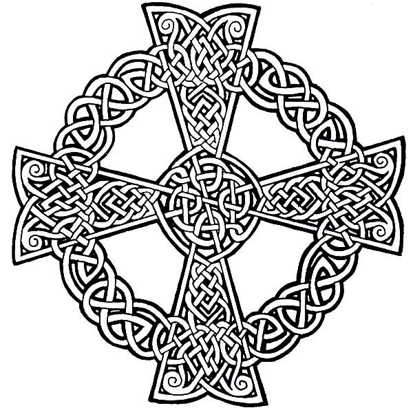 Drawing Celtic Cross Coloring Pages