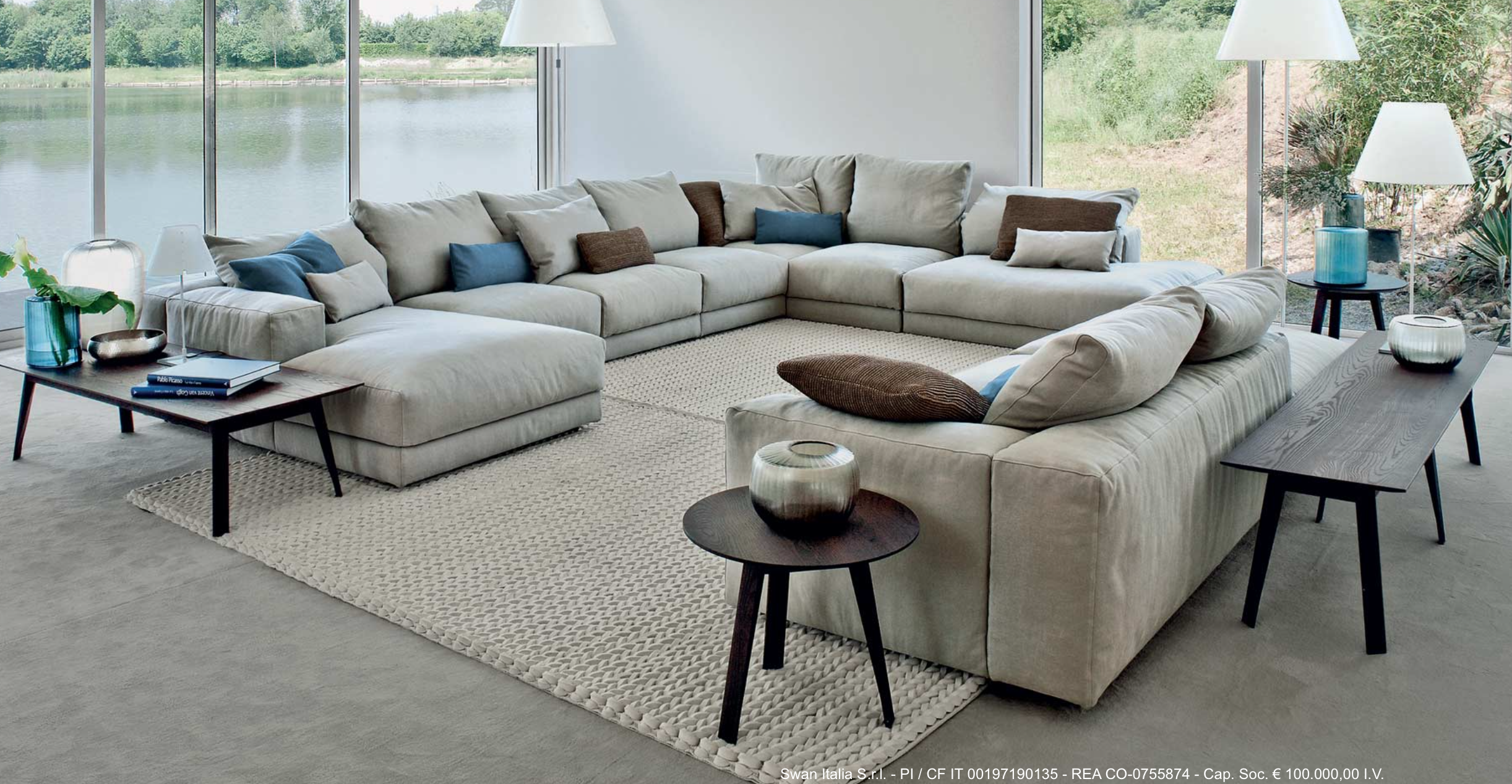 Hills Large Comfortable Sofa Refined Balance Between Soft Lines And Generous Proportions