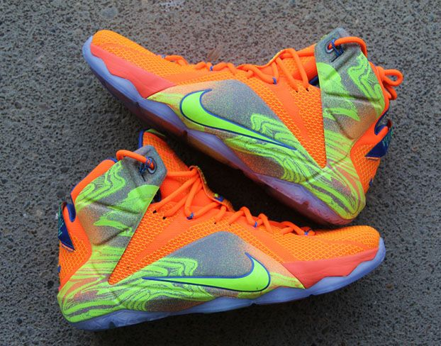 best sneakers 5795f ded17 australia nike lebron 12 orange volt 74766 f2411