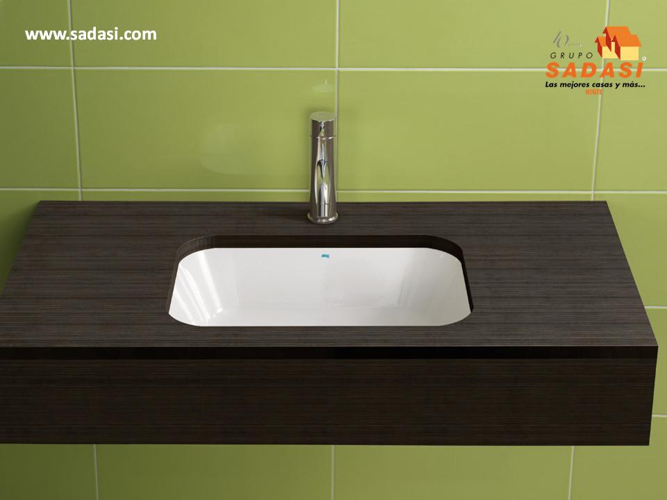 M s de 25 ideas incre bles sobre lavabos bajo encimera en - Iluminacion espejo bano ...