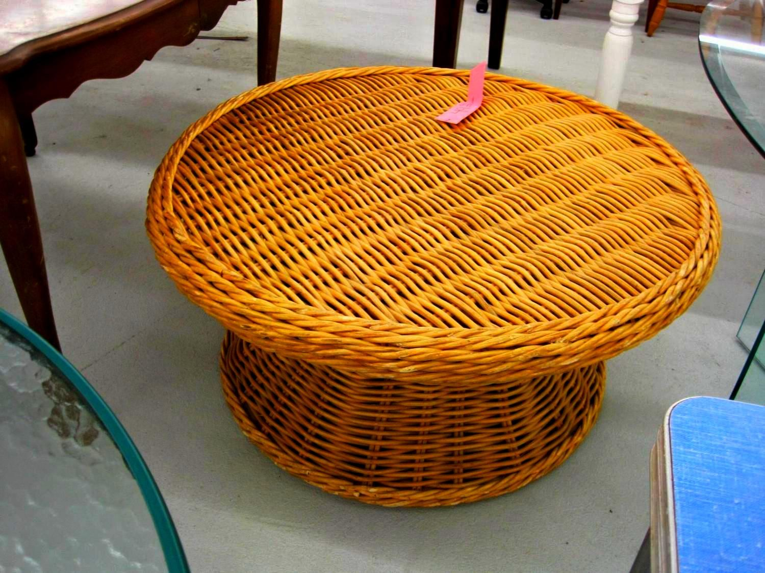 Fabulous Small Light Round Wicker Ottoman For Living Room Wicker Onthecornerstone Fun Painted Chair Ideas Images Onthecornerstoneorg