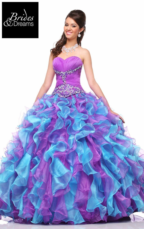 1d330ae91 Vestido de  QuinceAños con hermosos colores que realzaran tu belleza!! Este  y muchos estilos mas los puedes encontrar en Brides and Dreams con ...