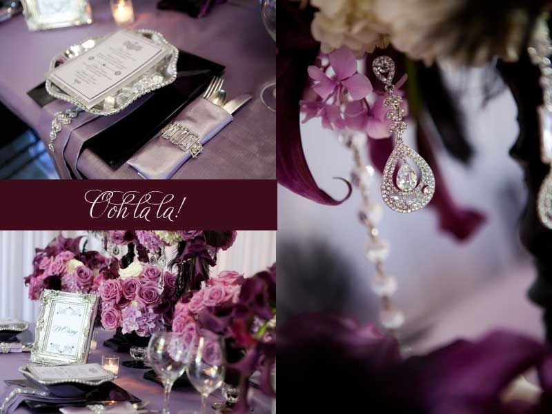 Perfect Theme For My Wedding Purple And Plum Color Scheme With A Touch Of Vintage From Paris