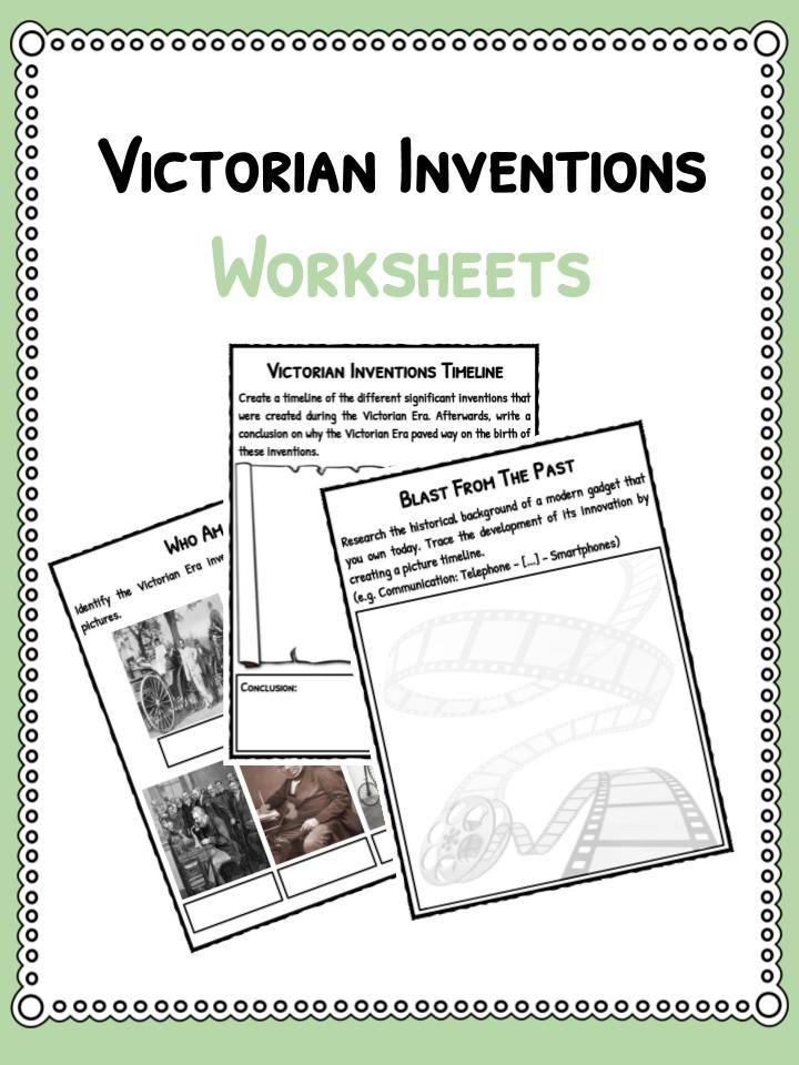 Victorian Inventions Facts Worksheets Includes Lesson Plans