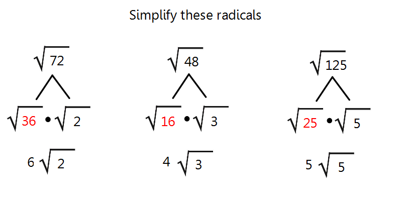 More simplifying radicals. | Radicals | Pinterest | Pythagorean ...