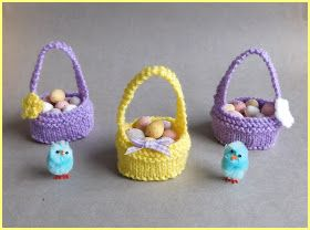 I love writing patterns that are simple to knit but i love writing patterns that are simple to knit sweet little easter baskets easter basket basket pattern cast on kni negle Choice Image