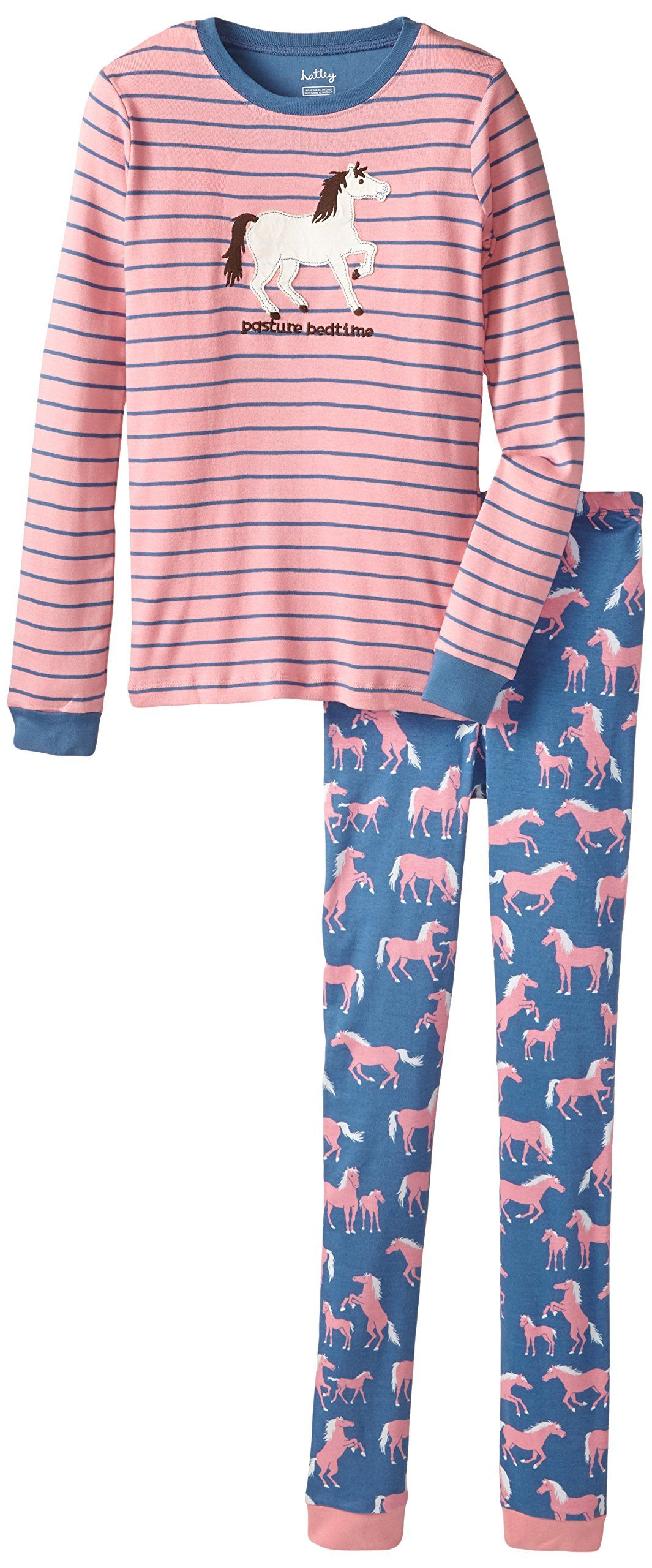 fbc7f78b8 Hatley Little Girls  Pajama Set - Show Horses Pasture Bedtime