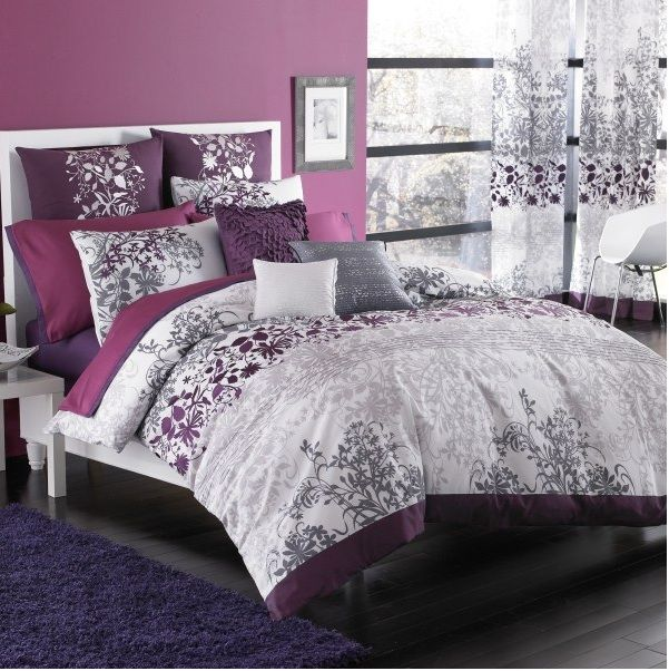 Pink And Gray Purple Comforter Bed Bath Beyond Kas Enchanted Duvet Set