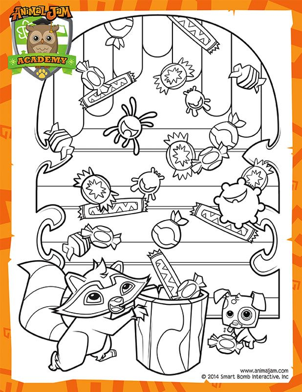 Summer Carnival Coloring Page Animal Jam Academy
