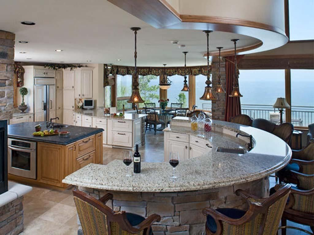 Beautiful Curved Island Kitchen Ideas Home Decorating Kitchens
