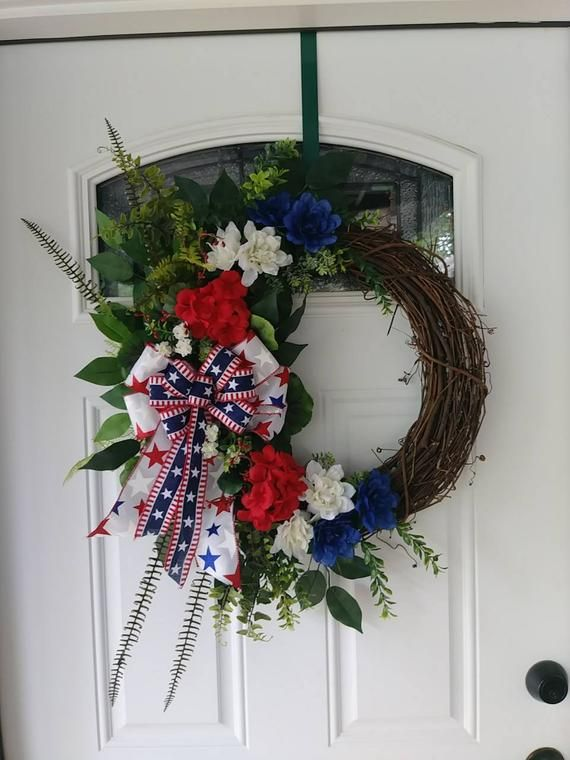 Photo of Patriotic grapevine wreath
