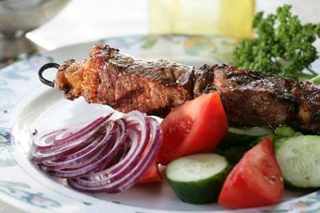 Shashlik: it doesn't tolerate a woman's touch (allegedly)