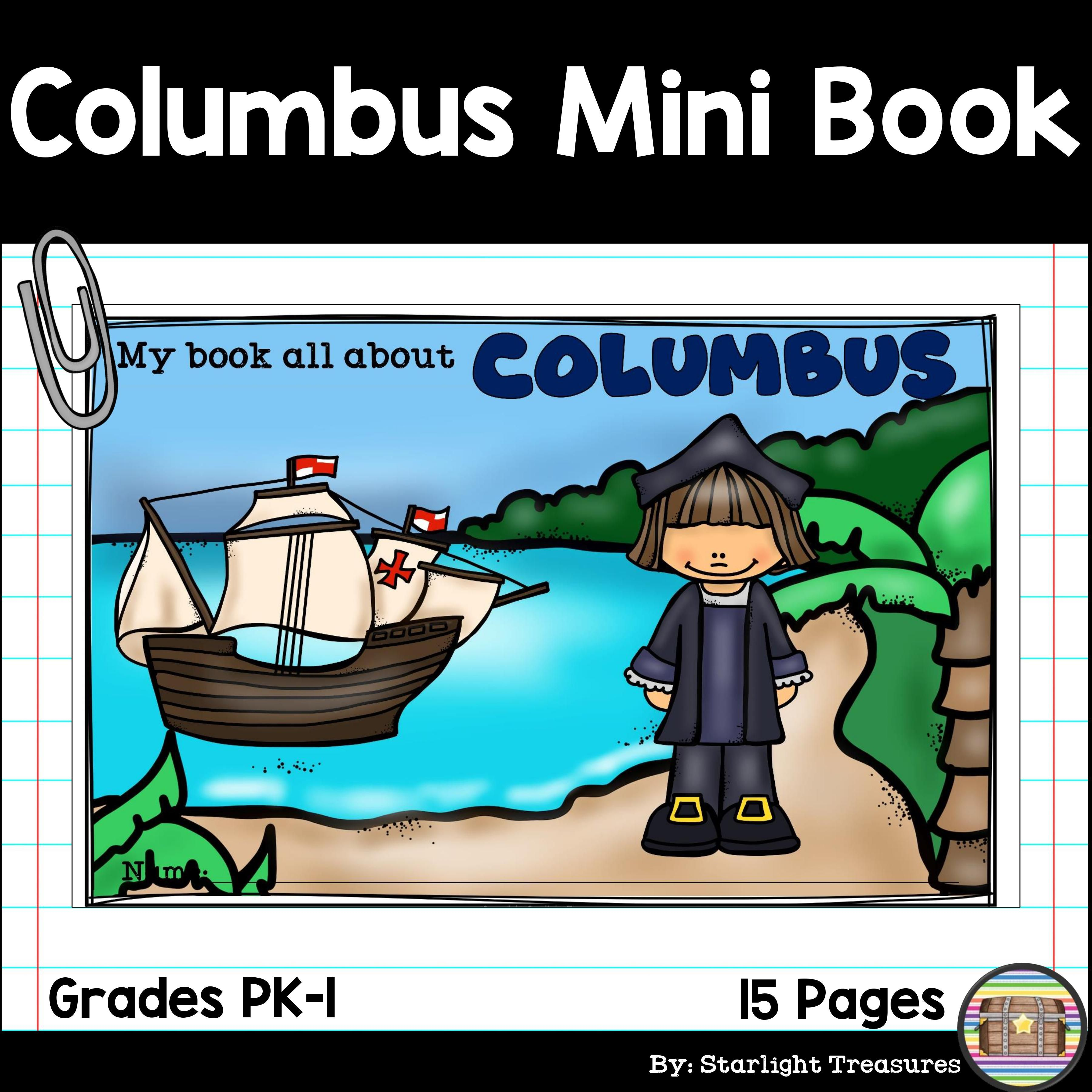 Christopher Columbus Mini Book For Early Readers Early