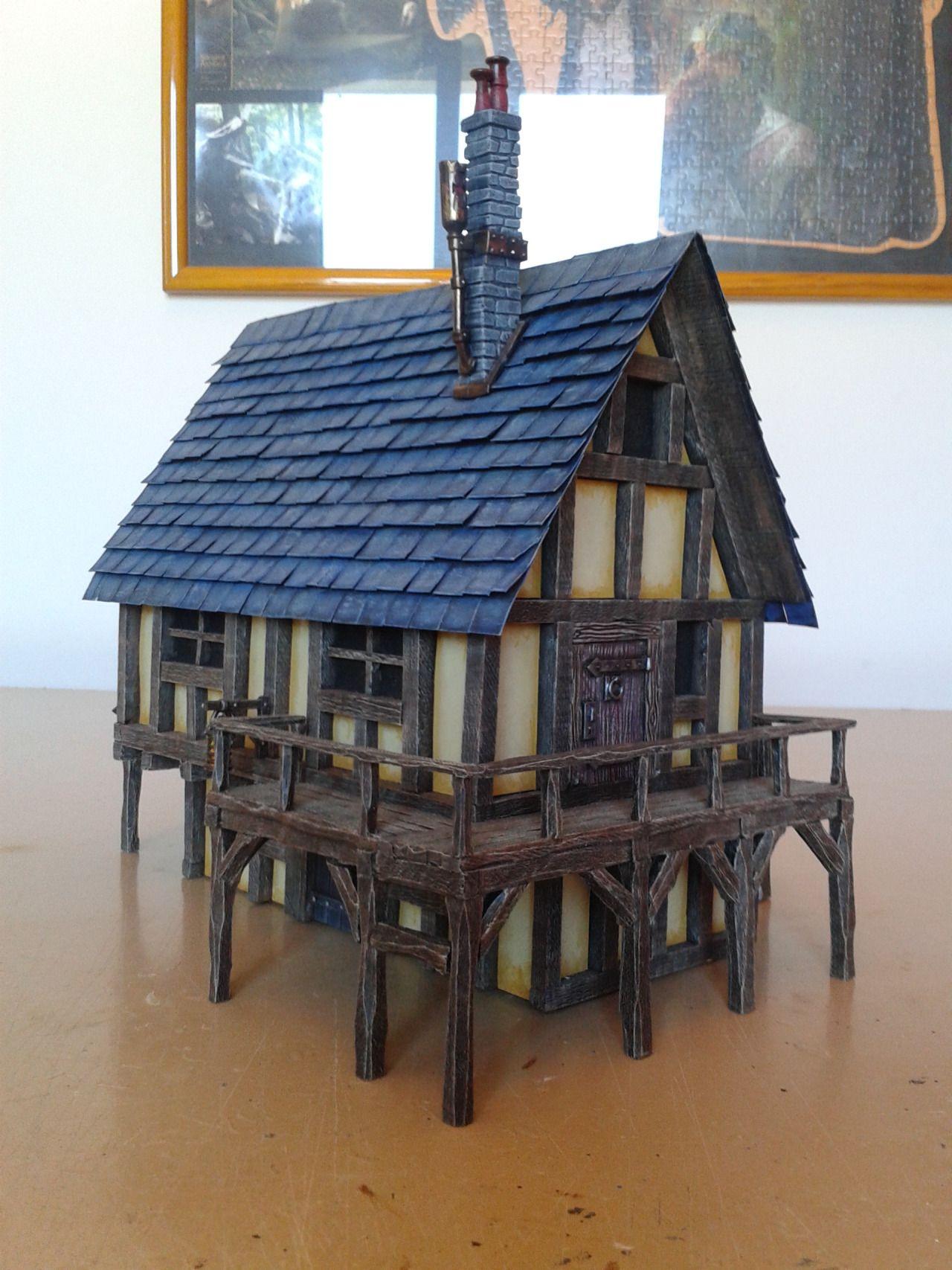 Medieval House - 28mm Building - Tabletop - Terrain - Diorama