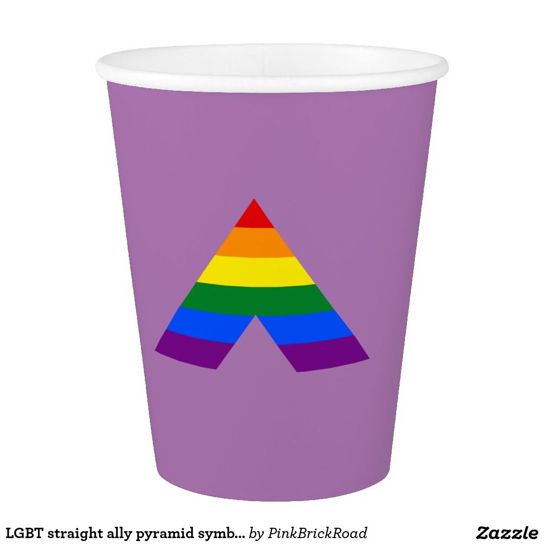 Lgbt Straight Ally Pyramid Symbol Paper Cup Pinterest Lgbt And