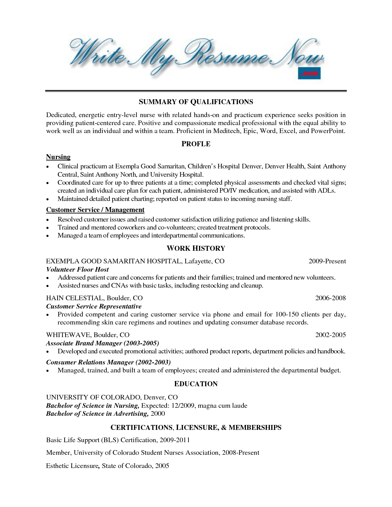 Hospital Volunteer Resume Example http//www